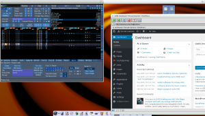 blogging on Icaros 2.1.3 with OWB now very stable while listening to a nice tune under protrekkr